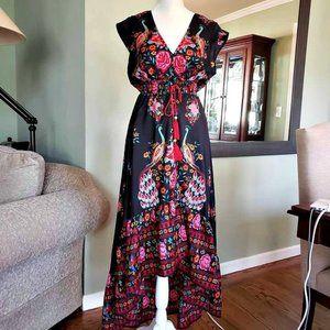 *Like New* Floral Silk Maxi Dress